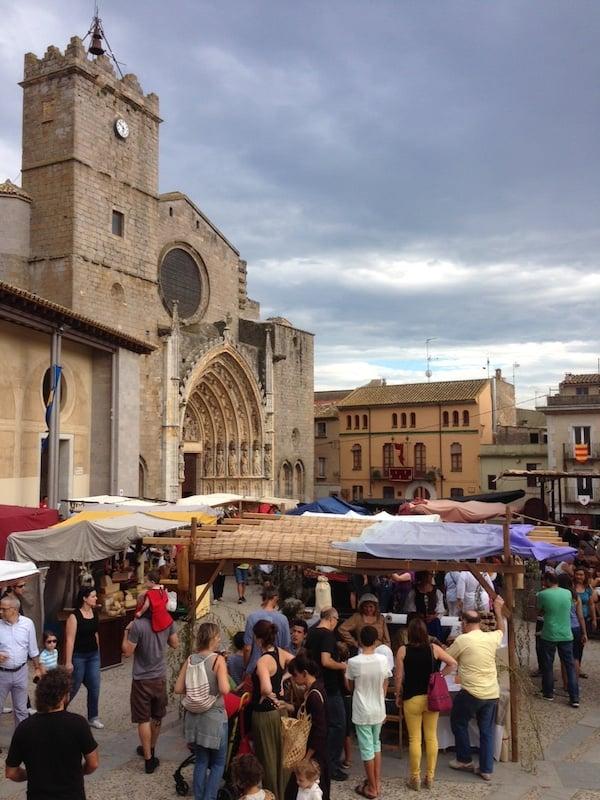 Lovely Castelló d'Empúries.