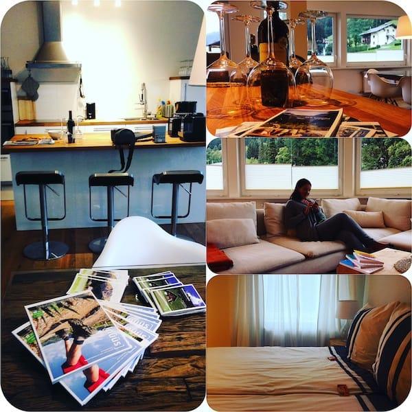 Wir lieben sie, unsere kuschelig-neue Ferienwohnung! Mehr Infos rund um Ausstattung & Buchungsmöglichkeiten findet Ihr hier.