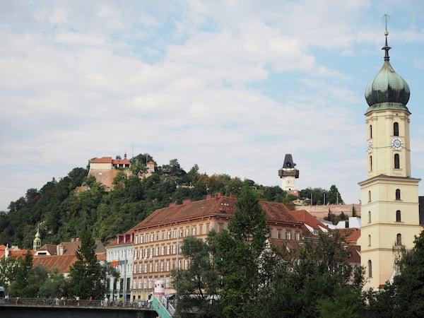 Ein letzter Blick auf die schöne Altstadt von Graz ...