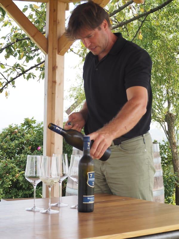 ... zu vielen wissenswerten Punkten rund um die Winzer der Region, wie beispielsweise hier das Weingut Dreisiebnerhaus.