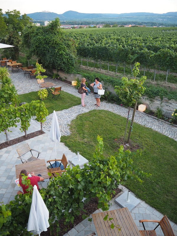 Entzückende (Wein)Gärten erwarten Besucher hier ...
