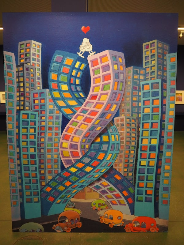… auf künstlerischer Seite faszinieren mich hier die Werke des Argentiniers Mordillo, der seinen Comic-Figuren stets politische oder gesellschaftliche Bedeutungen beimisst.