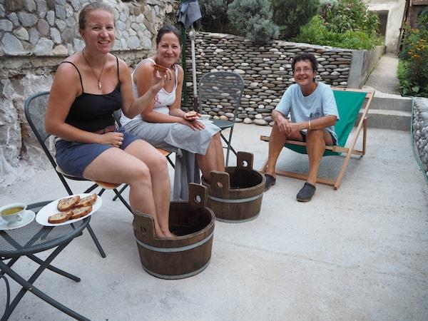 … und dem herrlichen, einfach nur herrlichen Salbei-Kräuterbad zum Empfang!