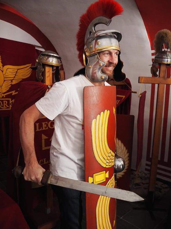 … was es mit der Verkörperung zahlreicher Römerfeste hier so auf sich hat.