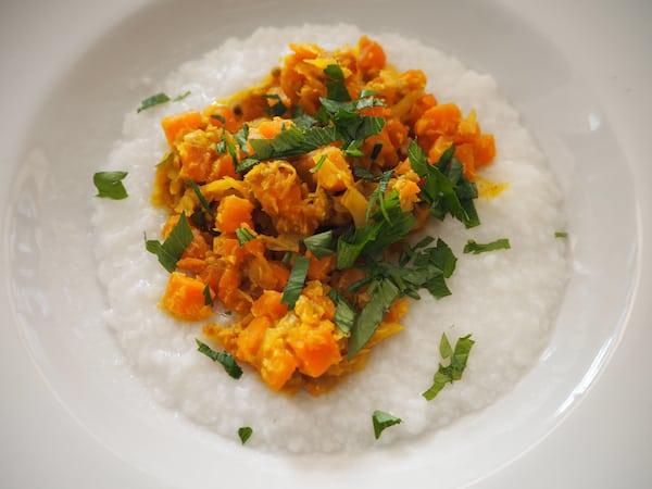 Zum (vegetarischen), köstlich-leichten Mittagessen ...