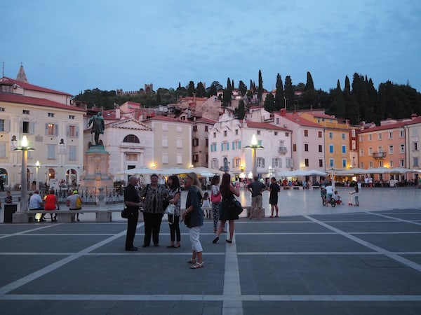 Abends in Piran ...