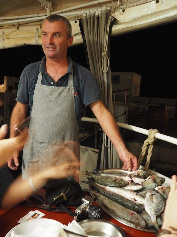 … wenn der buchstäblich letzte, frische Fisch des Tages für uns ...