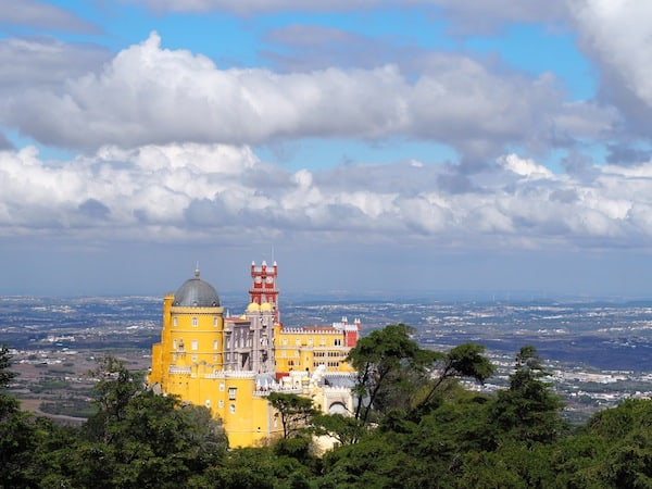 "From ""La Cruz Alta"" in Pena palace gardens, you can enjoy some of the best views of the Pena Palace itself ..."