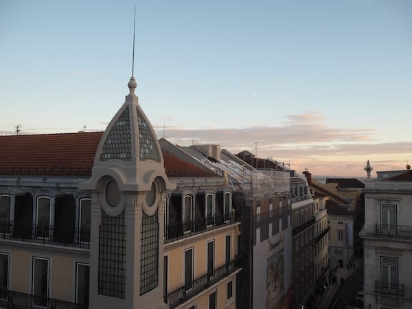 "… is a magical place, especially at sunset: Look at this view from ""The Lisbon Poets Hostel"", a really cool place to stay and our choice again this time ..."