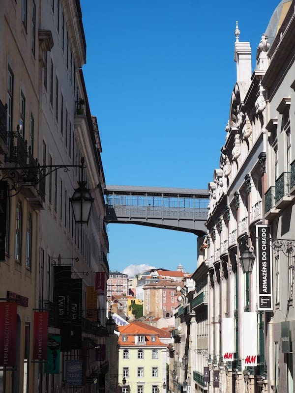 … from here right next to the Metro station Baixa-Chiado, it's easy to explore downtown Lisbon ...