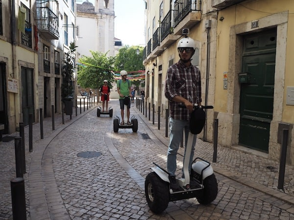 … streets that are now being crossed by Segway ...