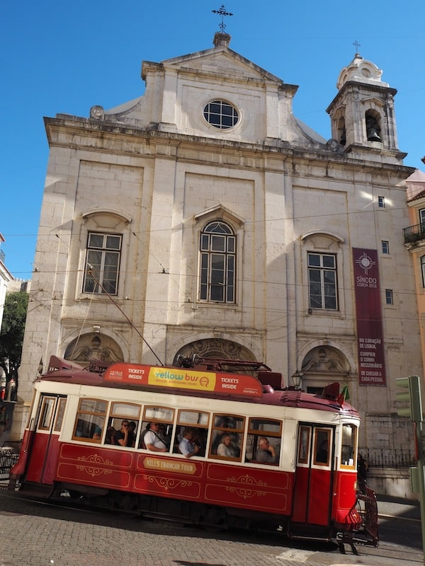 … or if you prefer in the more traditional, Lisbon fashion: By taking the old city tram.