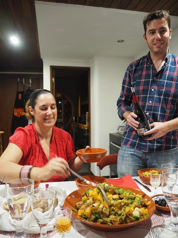 Home with the family: Patrícia and her husband Luís invite us home to share a family meal with them and their two daughters ...
