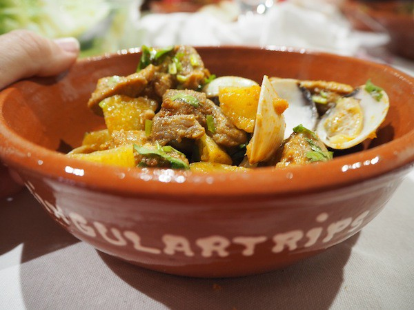 … featuring Alentejo-style pork & veggies ...