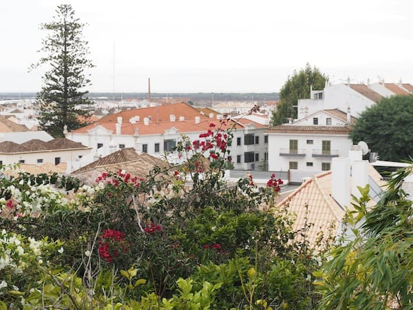 The view over Tavira from its ancient Moorish castle ...