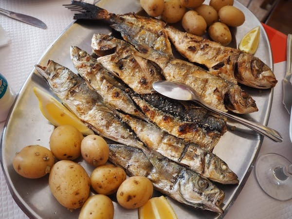 … takes us out to a fish feast on Tavira Island.!