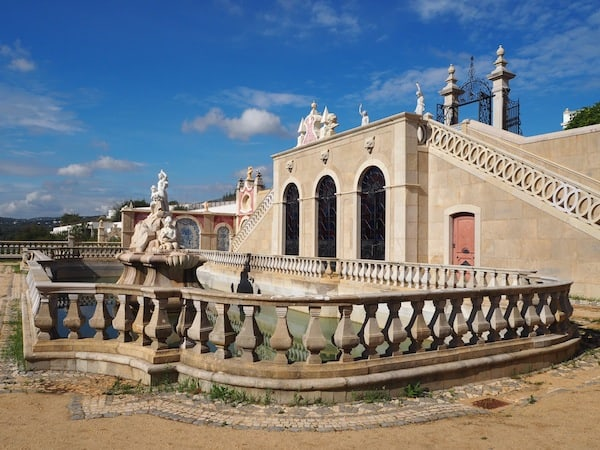 Next to Loulé, only some 15 minutes drive, is the palace of Estoi ...