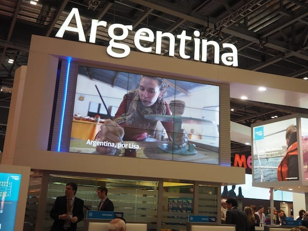 And would you believe it: Creative Travel is really out there. As seen at the Argentina stand of the London World Travel Market 2015.