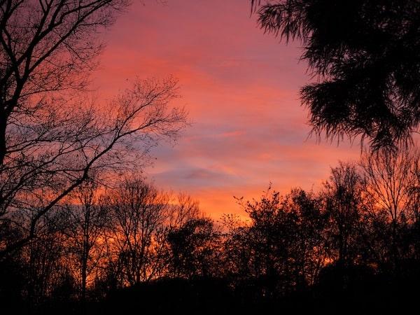 … sowie den prächtigen Sonnenuntergang bei überraschend milden Temperaturen. Herz, was willst Du mehr?