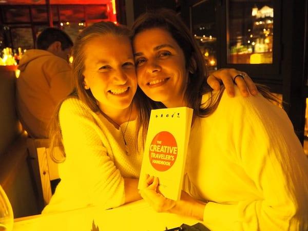 … wie hier mit meiner lieben Freundin Patricia, von Taste Of Lisboa Food Tours: Schön, Dich wieder zu sehen liebe Filipa!