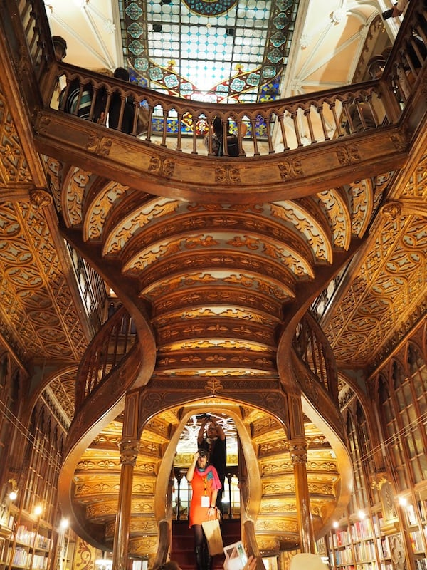 So thank God Porto is quite hilly ... and has many stairs to climb, too - as seen here at the city's most famous bookshop, Livraria Lello.