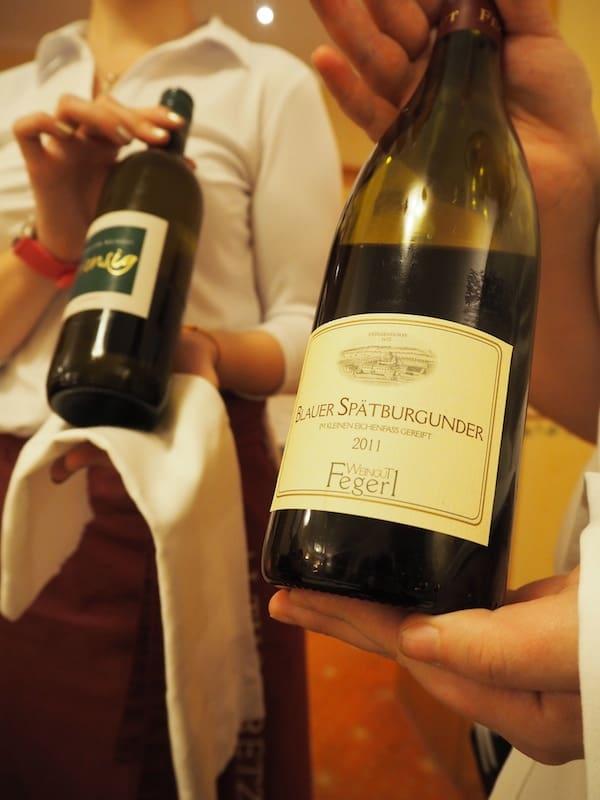… inklusive regionaler Weinbegleitung ...