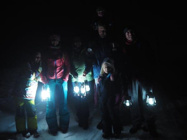 … und eine ganz besondere Atmosphäre bei der abendlichen Laternenwanderung im Wald!