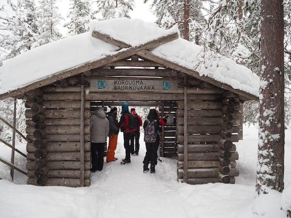 Auf in den Nationalpark Oulanka, nahe Ruka-Kuusamo im Osten Lapplands ...