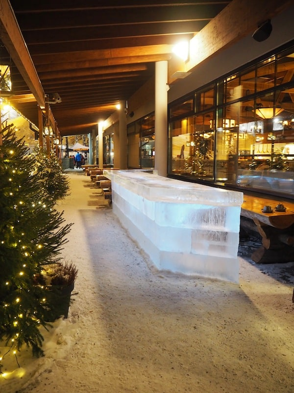 … including a nice ice bar to bid you welcome.
