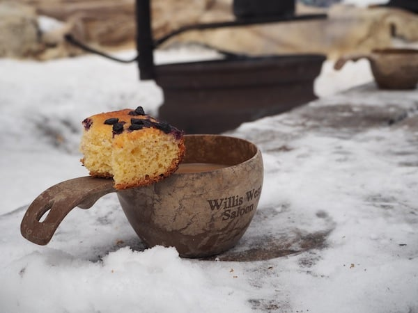 … and coffee / cake for your next outdoor lunch, as spotted here during our break in Oulanka National Park?
