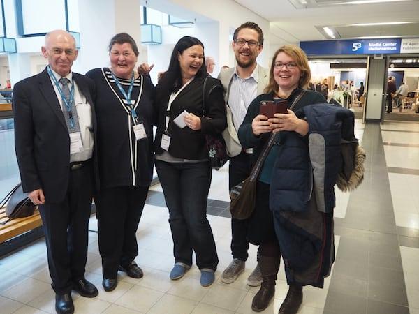 Meine lieben KollegInnen und Kollegen zu treffen macht Spaß und bringt uns alle weiter: Hier mit Petar & Monika Fuchs (TravelWorldOnline), Melanie & Jürgen Schlotze (LifeTravellerz) sowie Janett Schindler (Teilzeitreisender).