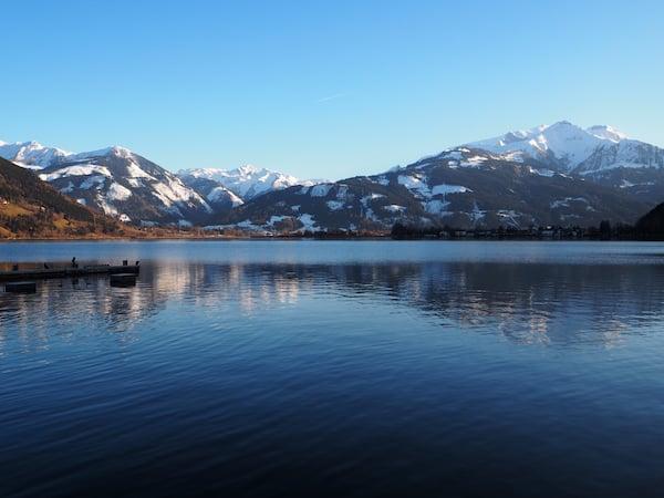 Ankommen mit Blick auf den wunderschönen Zeller See ...
