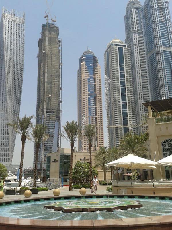 Toller Blick auf die Dubai Marina!