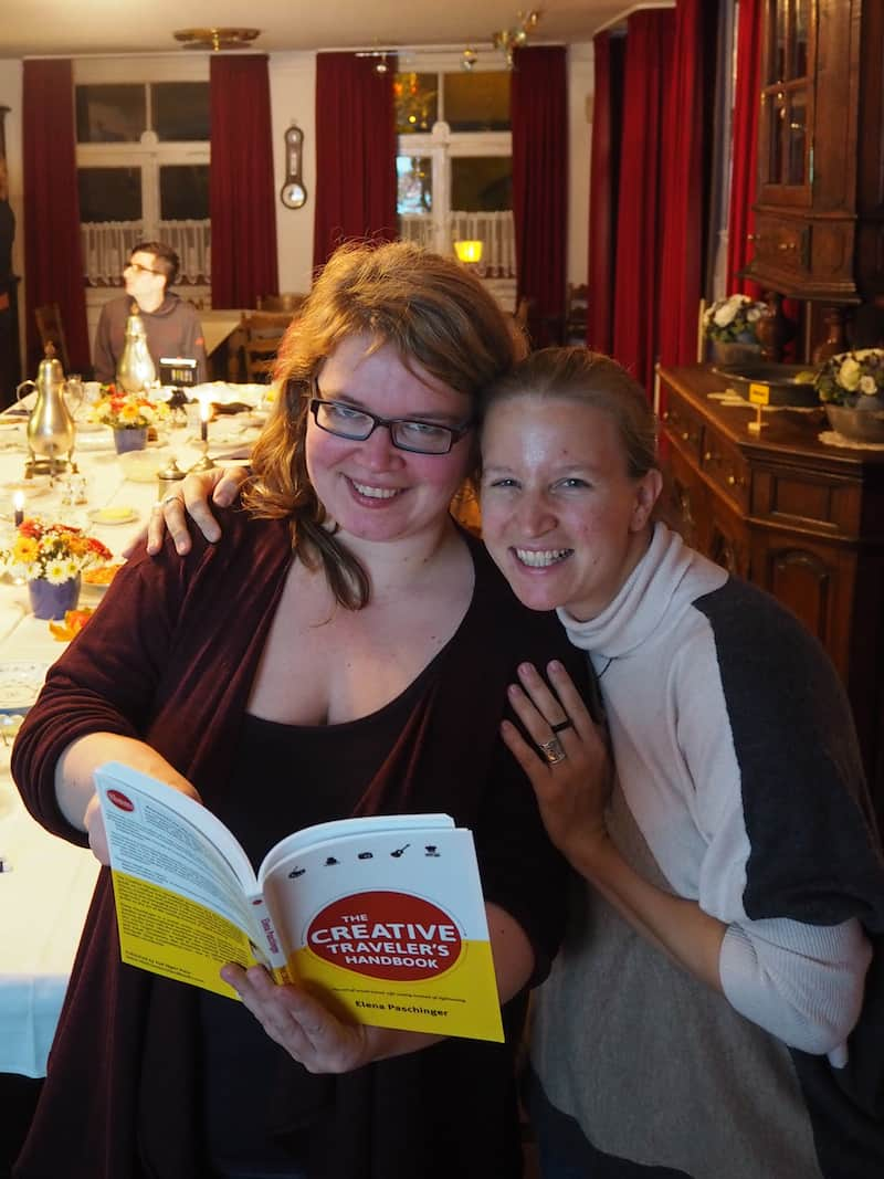 """Janett and I during our """"creative"""" meeting at the """"Bergische Kaffeetafel"""" in Mettmann, Germany last year."""