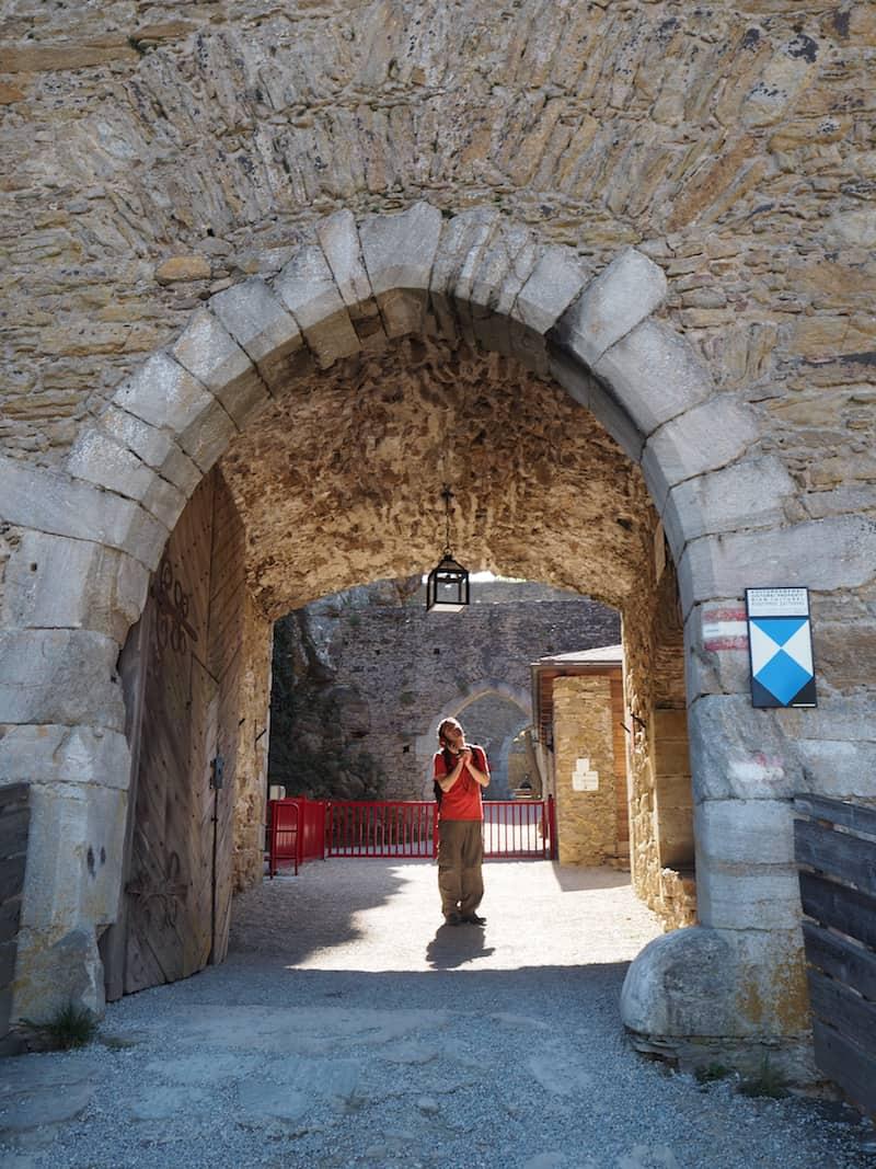 Der Eintritt in die Burg Aggstein selbst ...