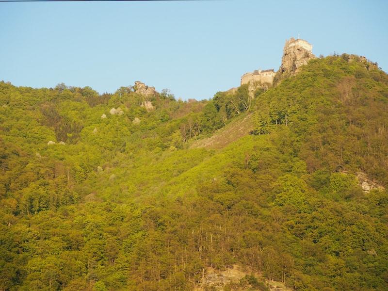 The castle ruin of Aggstein ...