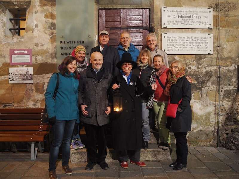 Thank you, Waidhofen, for such a warm welcome in the Mostviertel, here during our guided night watch tour ...