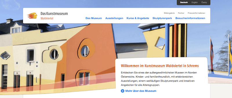 Ein weiteres Beispiel für gutes (digitales) Storytelling & Social Media Marketing im ländlichen Raum Niederösterreichs ist das Kunstmuseum Waldviertel, dessen Website ich Euch hier rate, anzusehen.