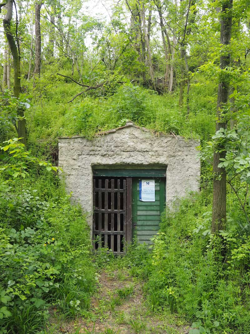 Ein Relikt aus einer anderen Zeit, als hier noch jeder Keller intensiv genutzt wurde, stiftet heute beschauliche Fotomotive für Besucher.