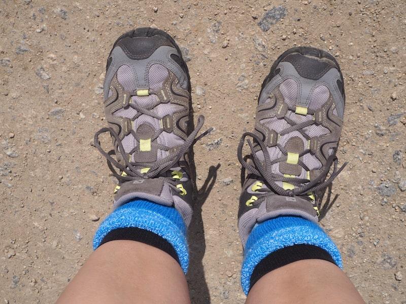 """Wander-Schuh-Fuß-Foto: Diesen Ausblick habe ich mehrere Hunderttausend Schritte lang schmerzfrei """"genossen""""."""