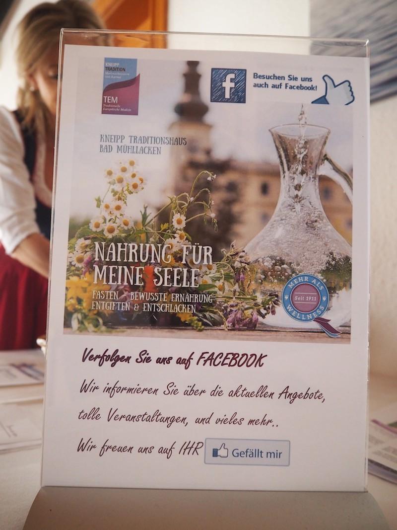 ... und solltet Ihr immer noch etwas Verstaubtes entdecken, so kann ich Euch nur raten: Folgt dem Kneipp Traditionshaus Bad Mühllacken einfach bei Facebook!