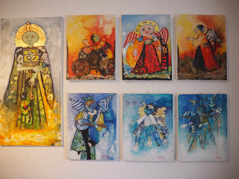 ... oder die Engelsbilder, die sie zu einem späteren Zeitpunkt im Leben in verblüffender Frische und Tugendhaftigkeit gemalt hat.