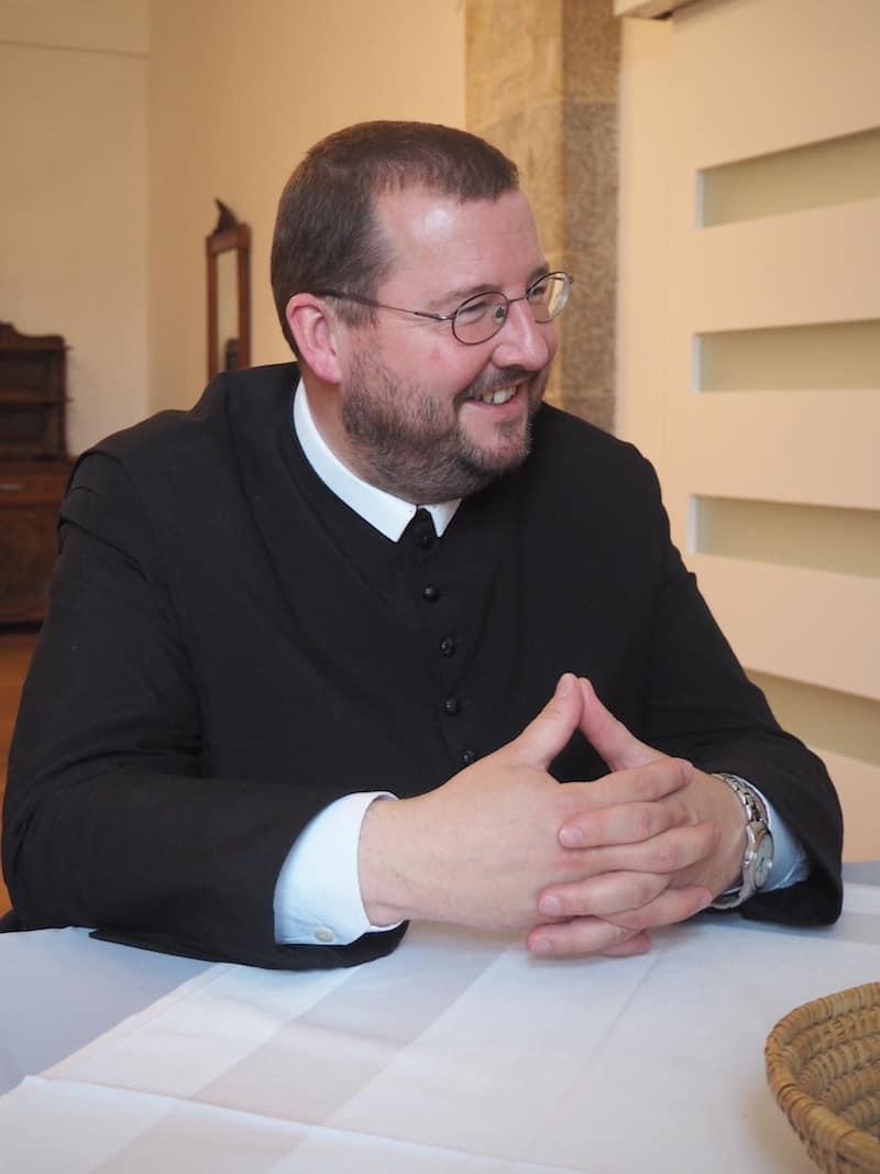 ... bei der überaus freundlichen Begrüßung durch Pater Gerwig ...