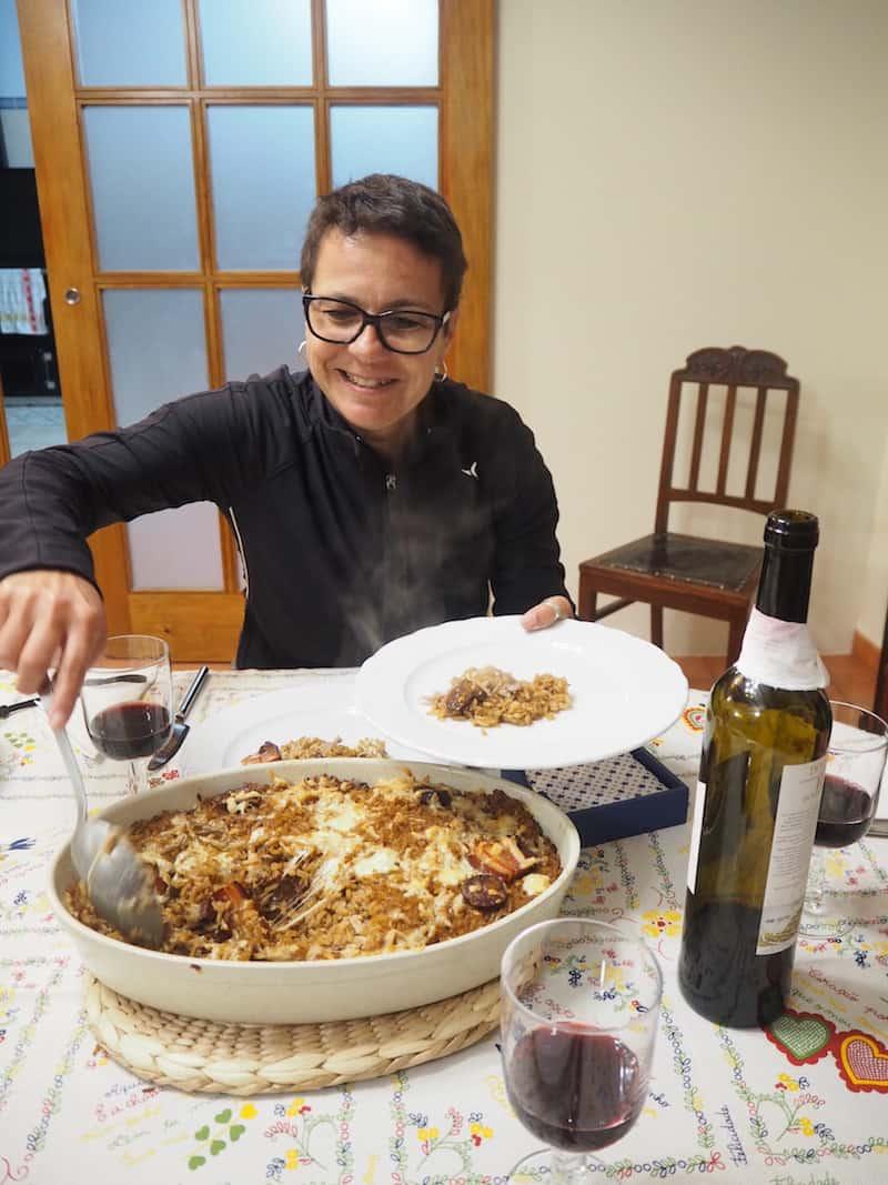 ... sowie dem anschließenden Abendessen (ja, Portugal is(s)t üppig!) verwöhnt.
