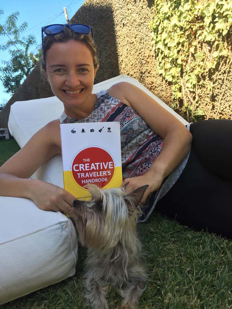 """Sofia after """"all the inspiration"""" from reading my book in her beautiful summer garden, on Madeira Island - a place I shall go and visit soon !!"""