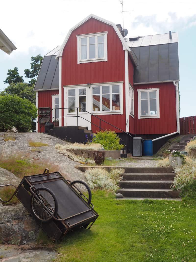 Landsort empfängt uns mit dem Charme der typisch schwedischen Sommerfrische ...