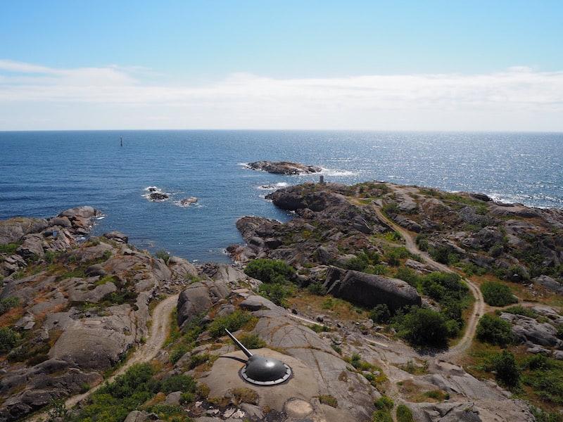 ... mit Blicken bis weit über das baltische Meer, hier an der südlichsten Spitze des Stockholmer Archipels.