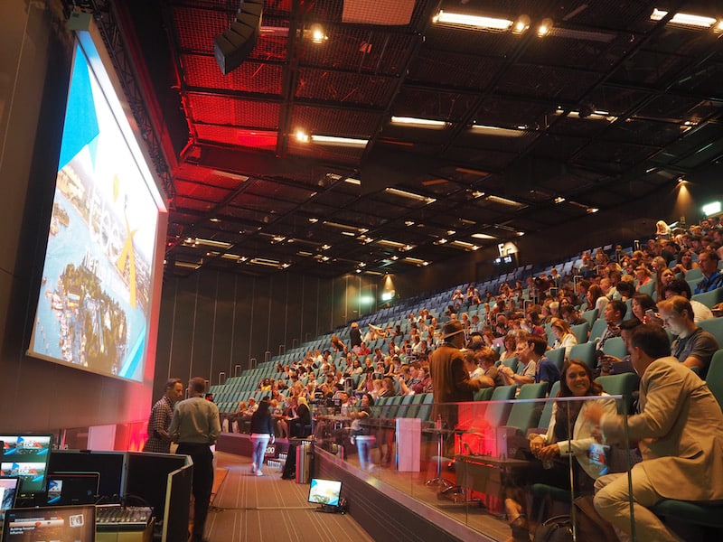 #TBEXStockholm opens up with a sizzling ambiance like this, comparable to a movie festival or rock concert .. :D