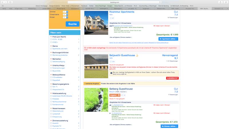 ... und auch die Meldungen bei der größten Reiseplattform Booking.com stürzen uns damals in die Besorgnis - weit über vier Monate vor dem Termin ..!