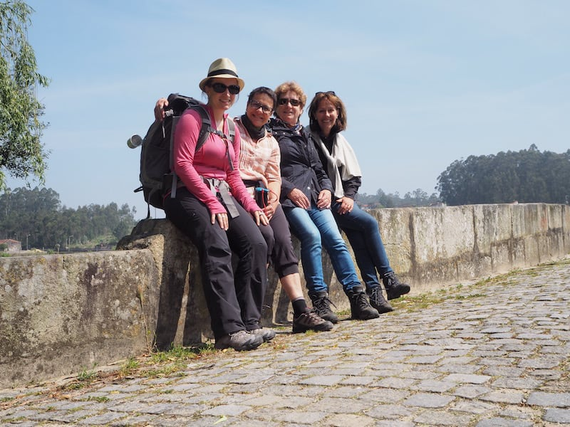 """Women walking the Way"": Our first real encounter with fellow pilgrims on the Way to Santiago was with these two German ladies on the second day of our pilgrimage."